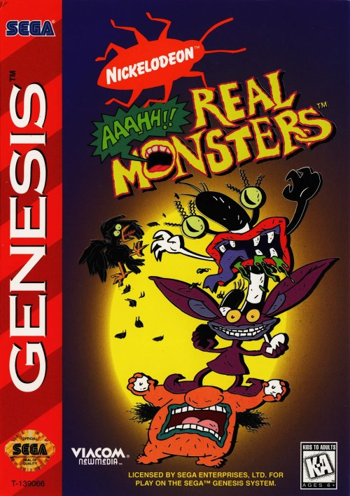 Nickelodeon Aahh!!! Real Monsters for Sega Genesis