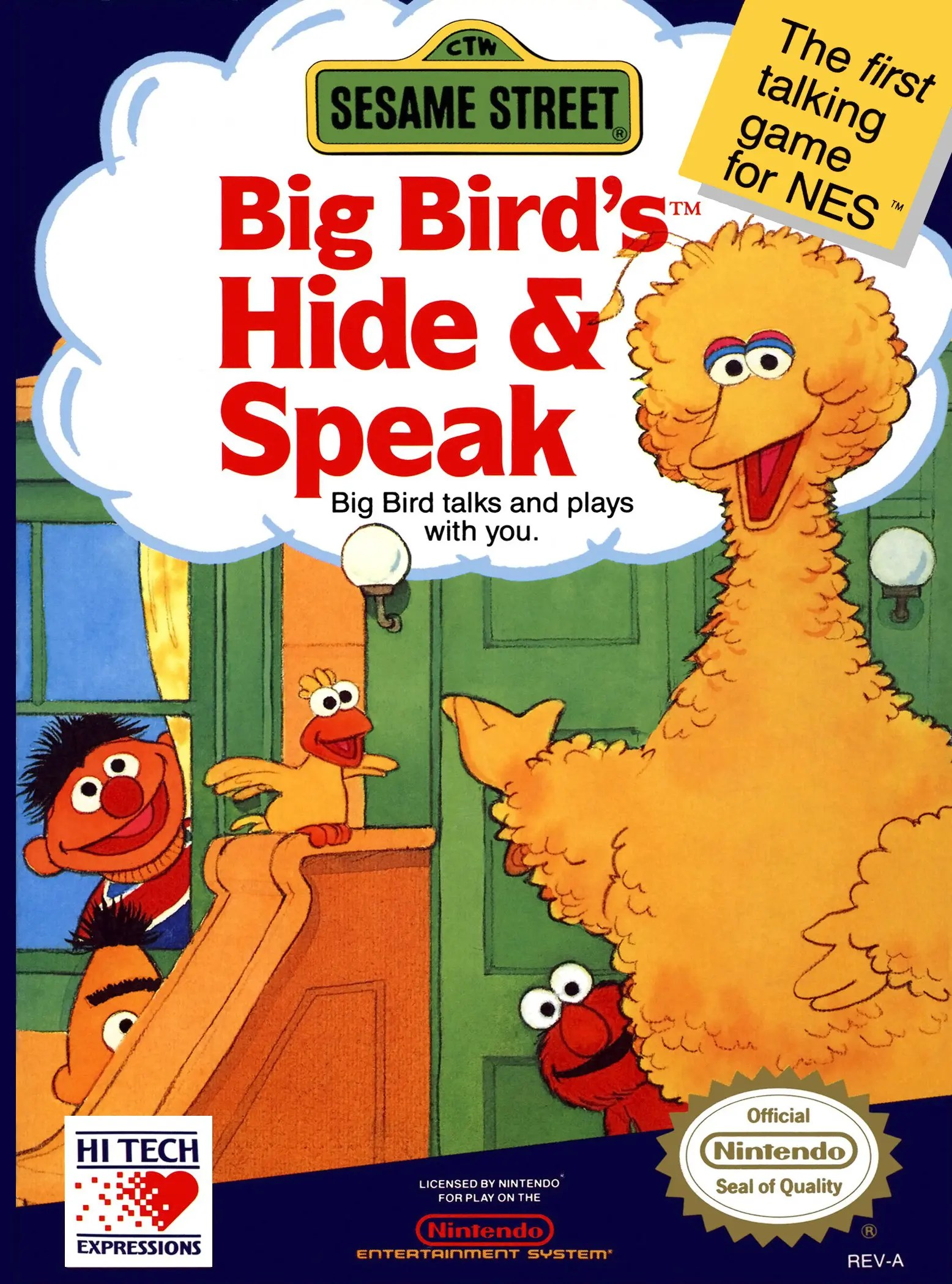 Sesame Street: Big Bird's Hide & Speak for Nintendo Entertainment System (NES)