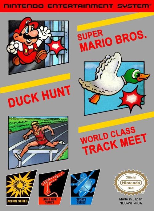 Super Mario Bros., Duck Hunt & World Class Track Meet for Nintendo Entertainment System (NES)