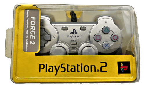 Sony PlayStation 2 Force 2 Analog Controller (Silver) (KT2C-0103)