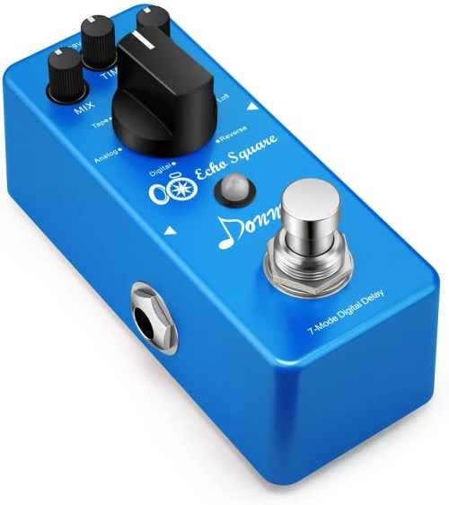 Donner Multi Digital Delay Pedal (Echo Square Guitar Effect Pedal with 7 Modes) (EC1006)