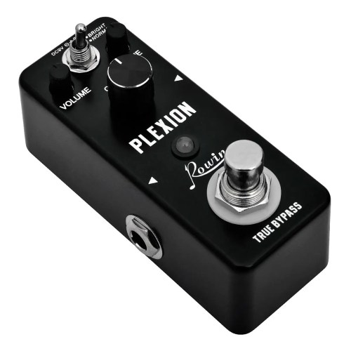 Rowin Plexion Distortion Pedal for Guitar & Bass with Bright and Normal Mode (LEF-324)