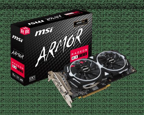 MSI Radeon RX 580 8 GB ARMOR OC Graphics Card
