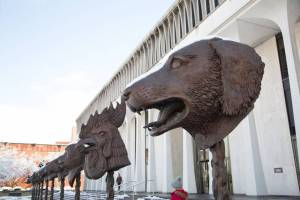 ...though, if I were choosing my concentration by architectural and archaeological perks, I'd say the animal heads of WWS come in a close second.