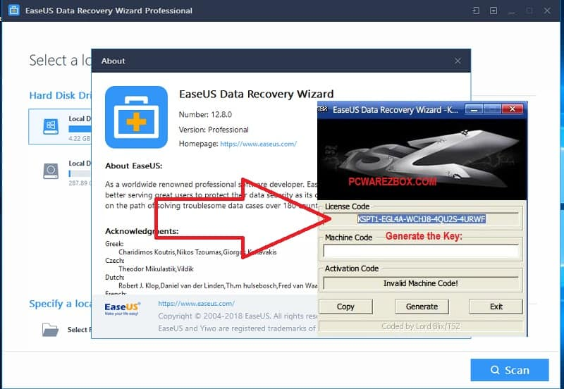 easeus data recovery wizard version 12 license code