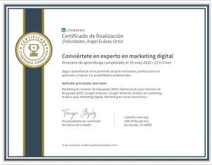 Conviertete en experto en marketing digital Linkedin Learning