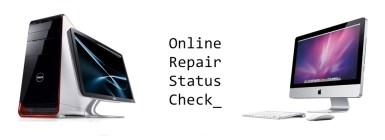 check repair status online
