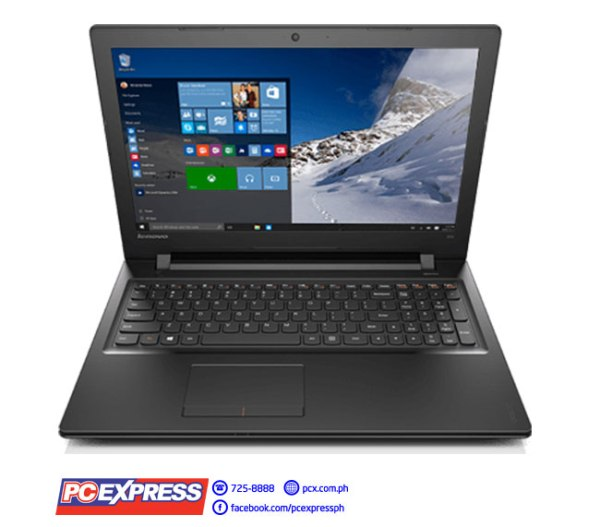 "Lenovo Ideapad 300-15ISK 80Q70132PH Intel Core i7 15.6"" ATI Exo Pro R5 M330 Windows 10 Laptop (Black)"