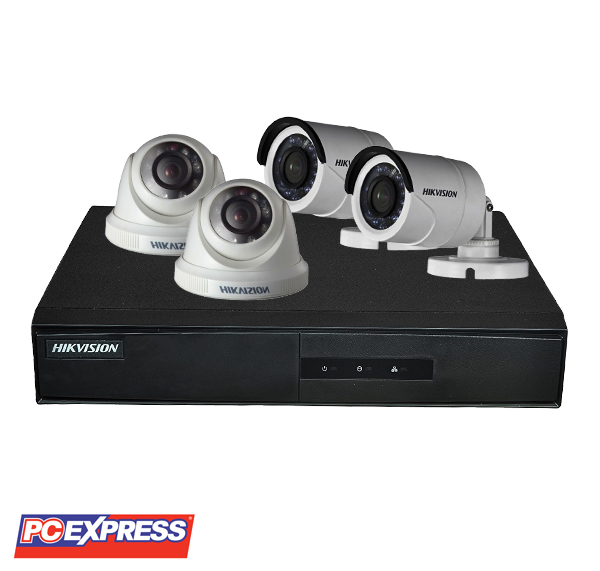Hikvision (4CH2D2B-1MP) TURBOHD CCTV Package