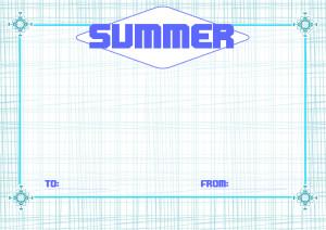 夏メッセージカード1