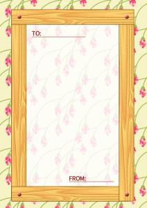 木目のメッセージカード縦5