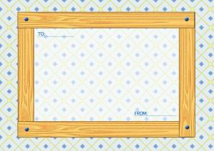 木目のメッセージカード横4