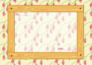 木目のメッセージカード横5