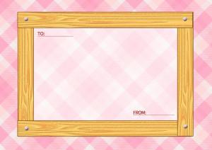 木目のメッセージカード横2