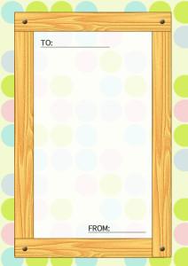 木目のメッセージカード縦1