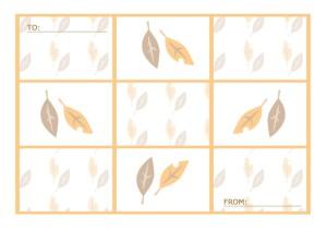 秋のメッセージカード