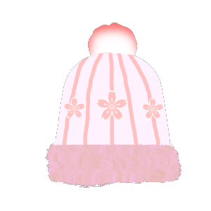 ピンクの帽子