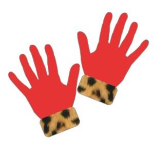 手袋:赤色