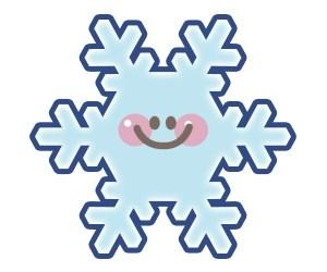 雪の結晶:笑い顔