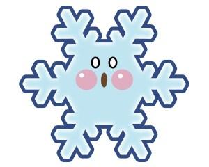 雪の結晶:びっくり顔