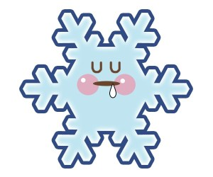 雪の結晶:眠り顔