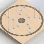 Fuente de Agua Interactiva Circular con Jet Central
