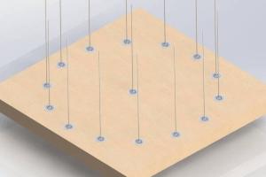 Fuente de Agua Interactiva Geométrica de Diamante