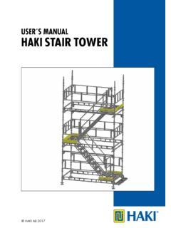 User S Manual Haki Stair Tower User 180 S Manual Haki Stair