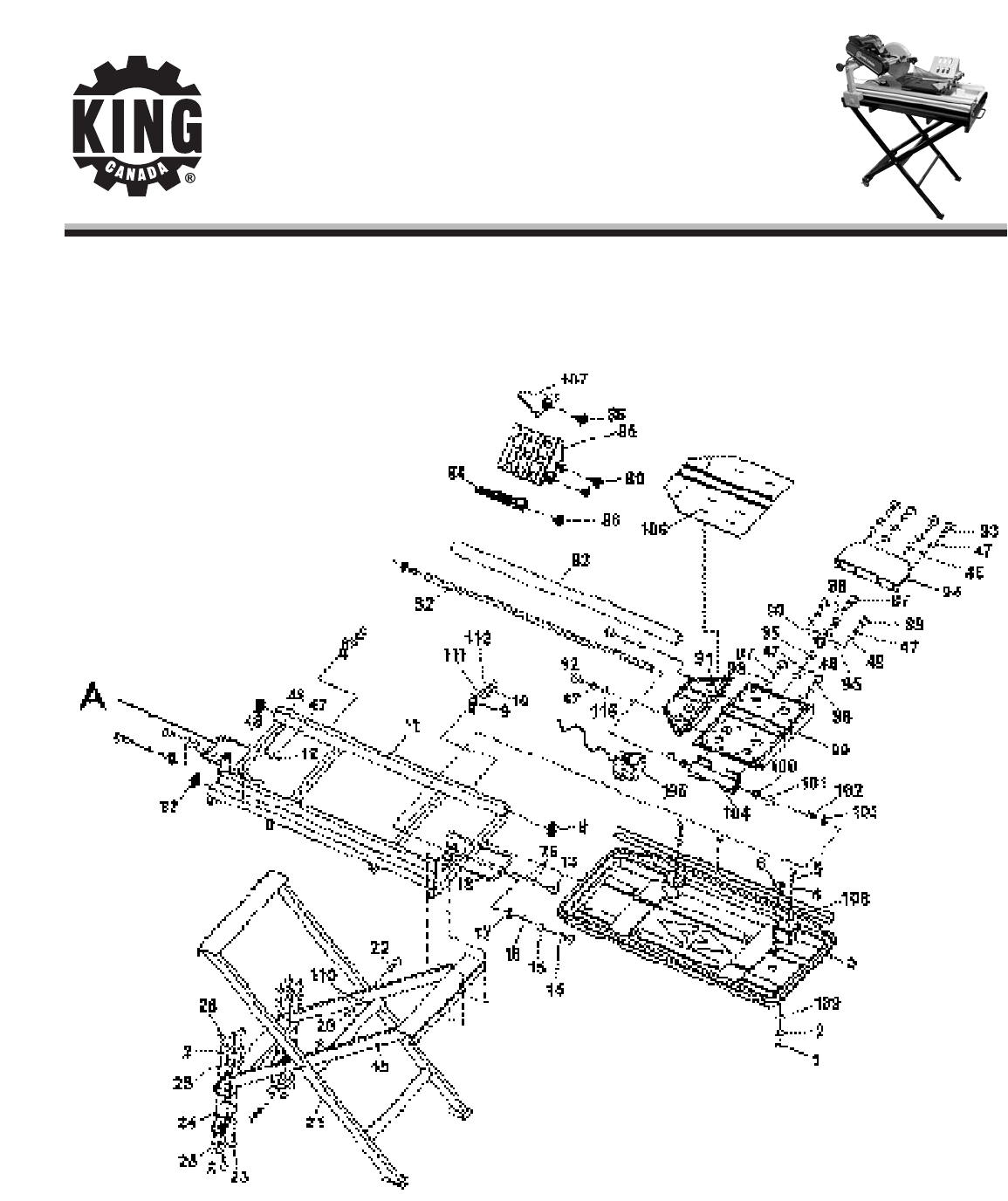 King Canada Saw Kc User Guide