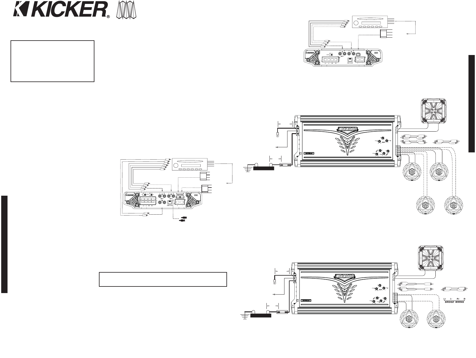 Page 2 Of Kicker Stereo Amplifier Zx550 3 User Guide