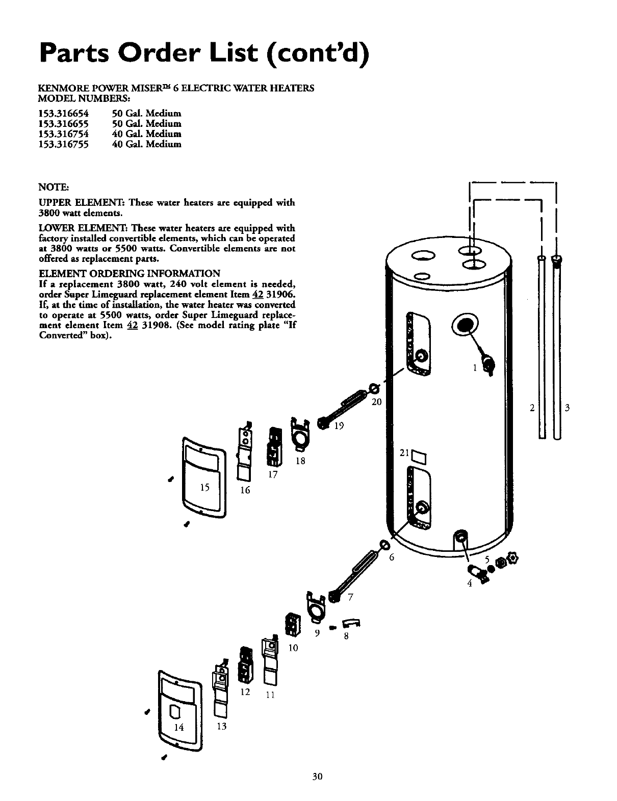 Page 30 Of Kenmore Water Heater 153 User Guide