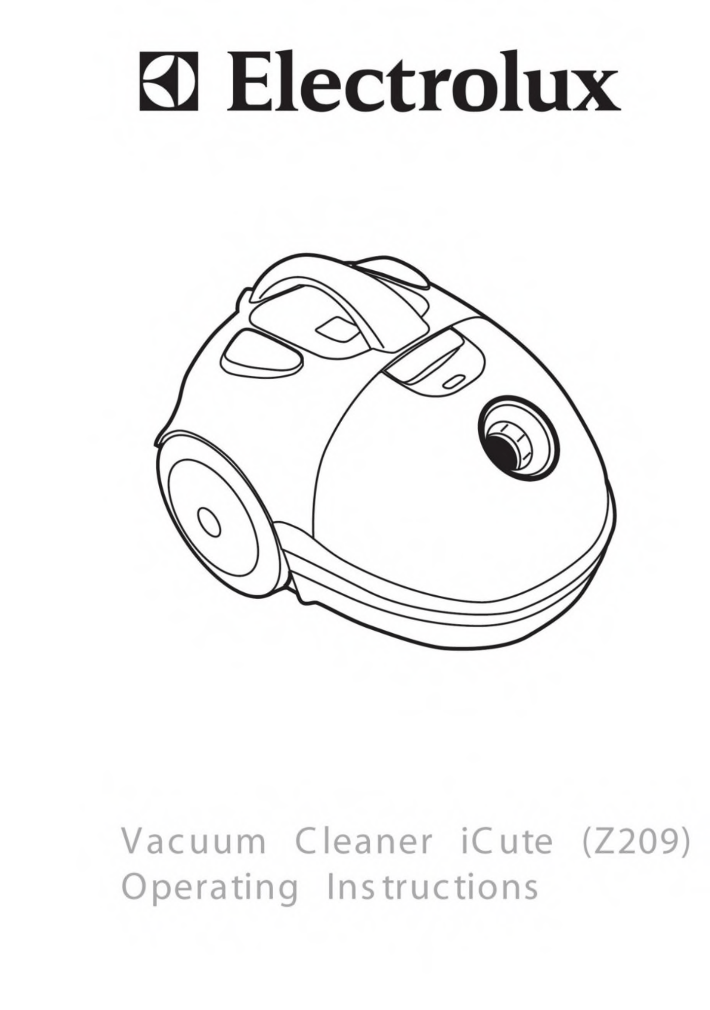 Electrolux Vacuum Cleaner Z209 User Guide