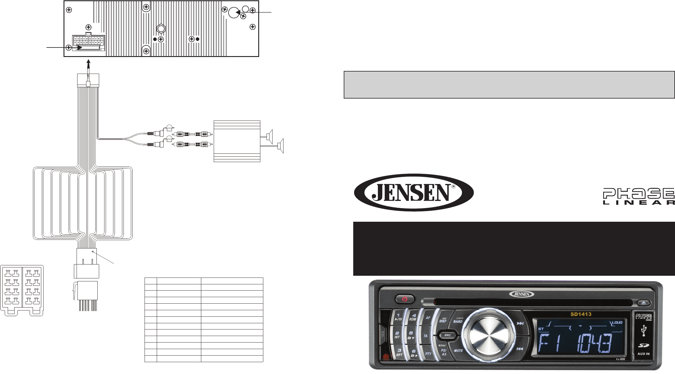 Jensen Car Stereo System Sd User Guide
