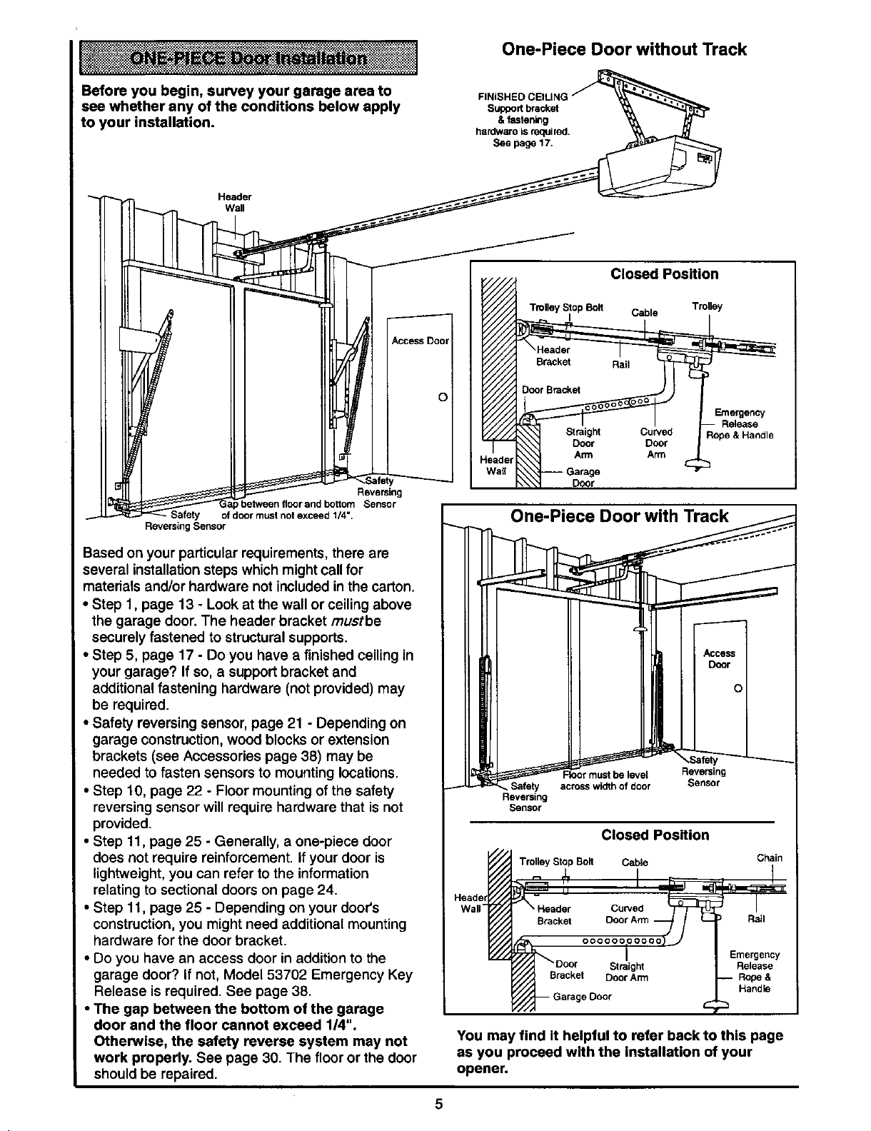 Page 5 Of Craftsman Garage Door Opener 139 Srt User