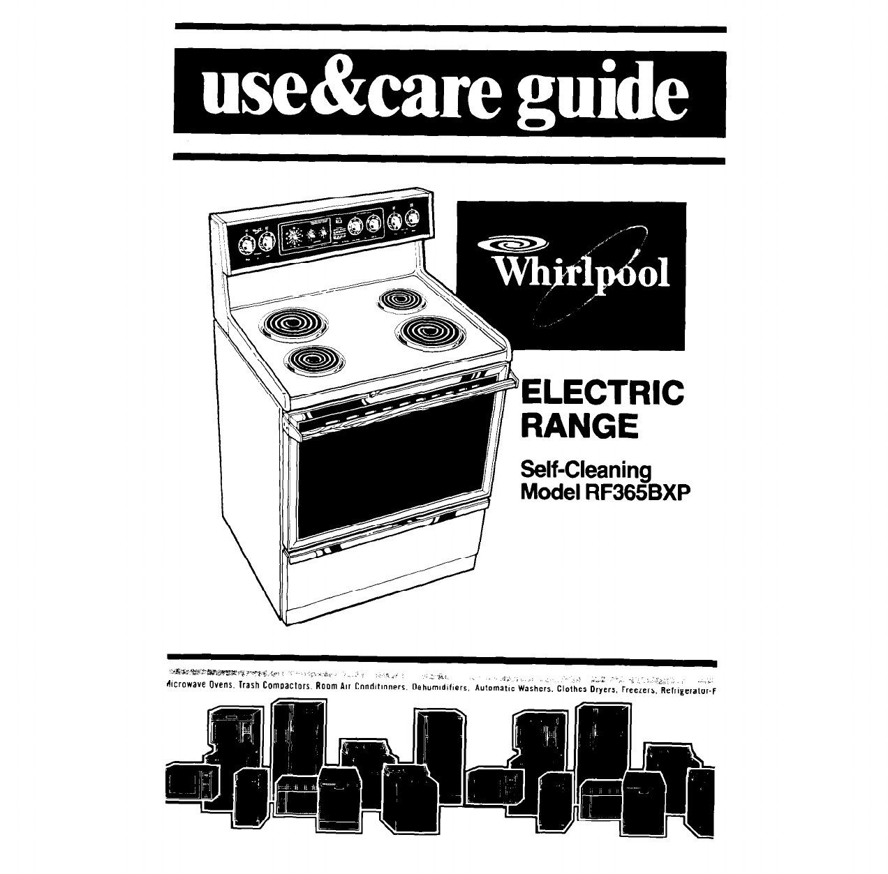 Whirlpool Range Rf365bxp User Guide