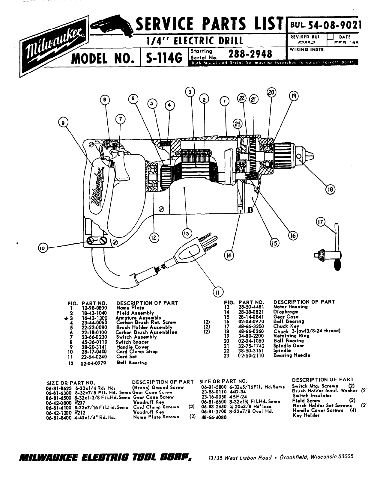 Milwaukee Drill S 114g User Guide