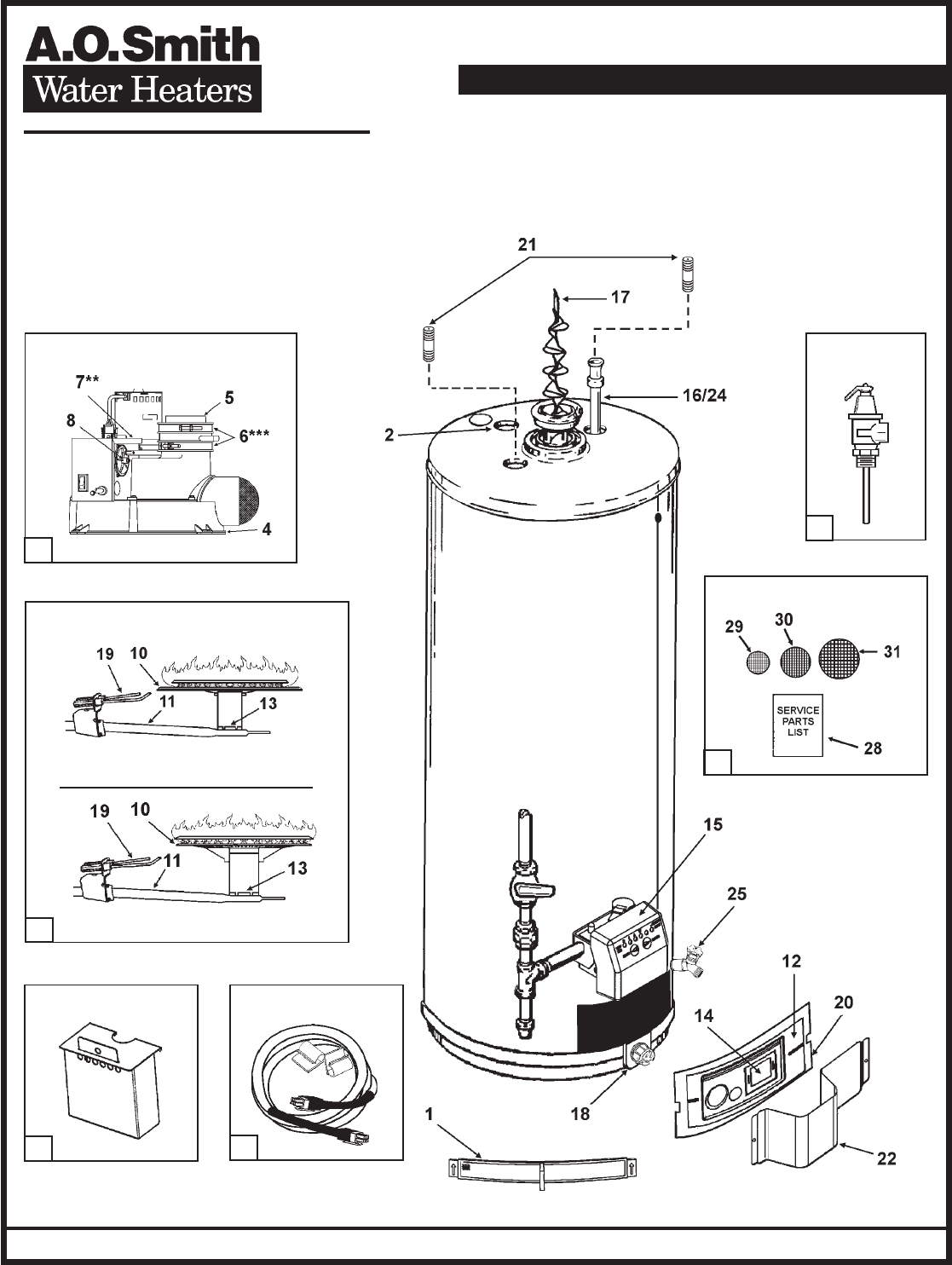 A O Smith Water Heater Gpvt 50 User Guide