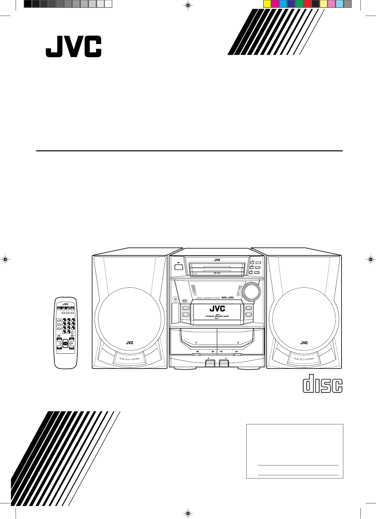 Jvc Stereo System Mx J30 User Guide