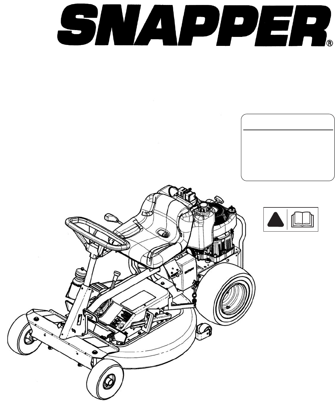 Snapper Lawn Mower User Guide