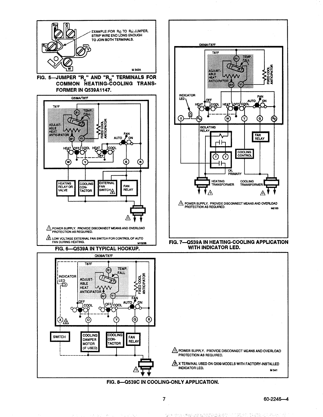Page 7 Of Honeywell Thermostat Q539a User Guide