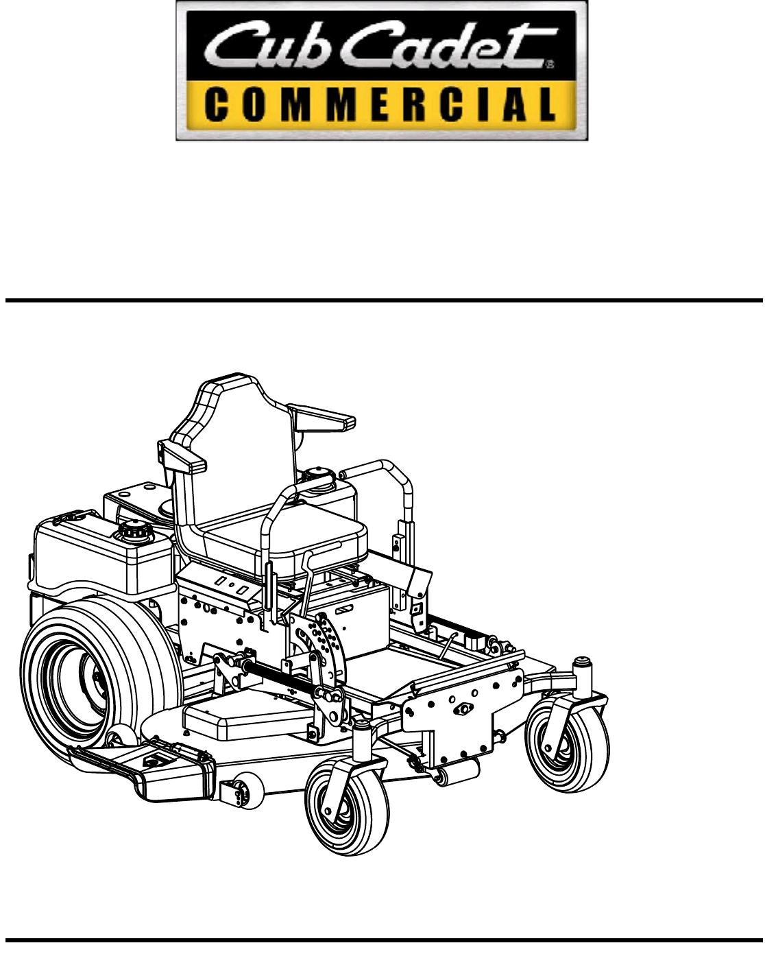 Cub Cadet Lawn Mower 60 Inch Amp 72 Inch Fabricated Deck