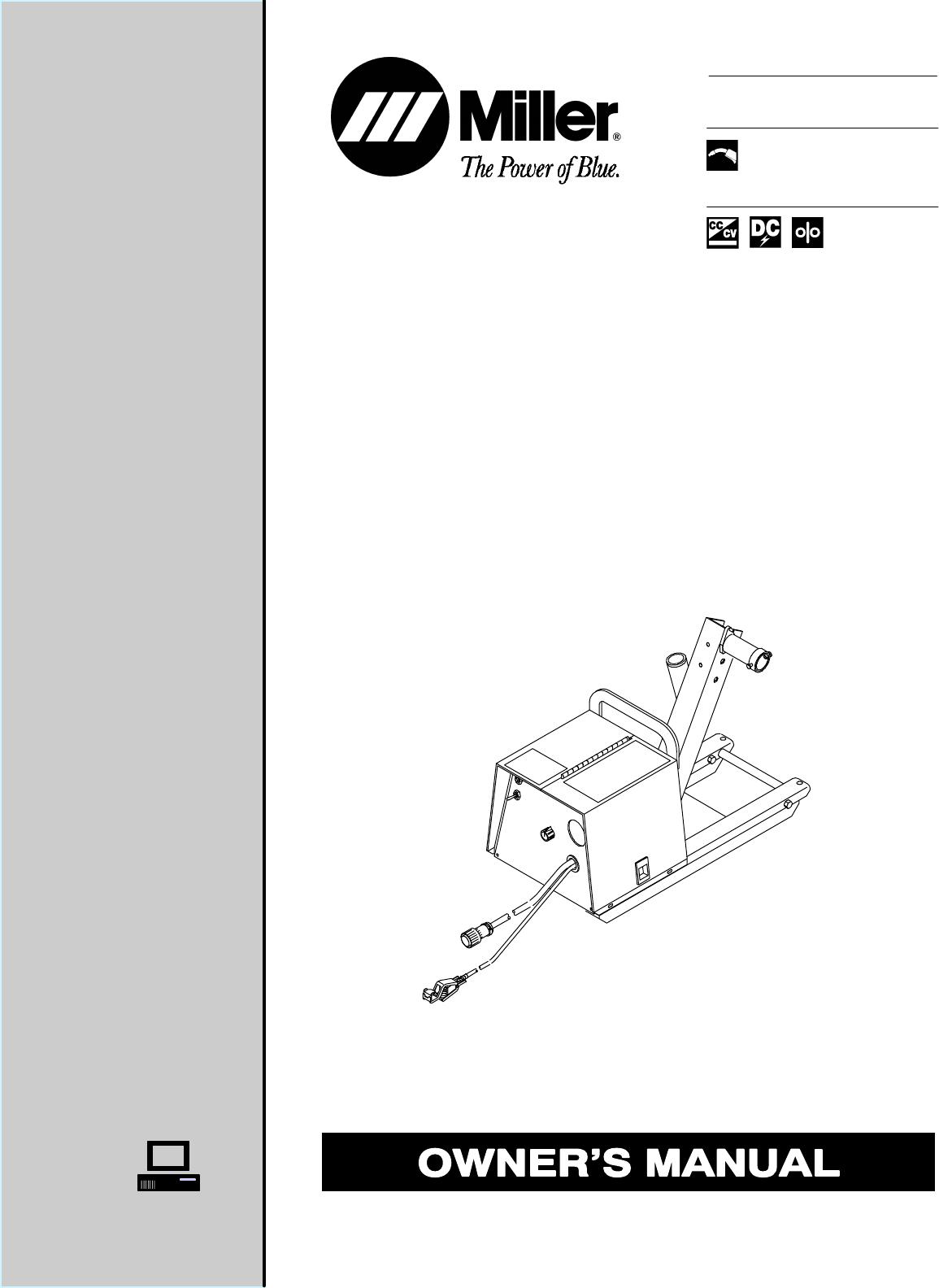 Miller Electric Welder S 32s User Guide