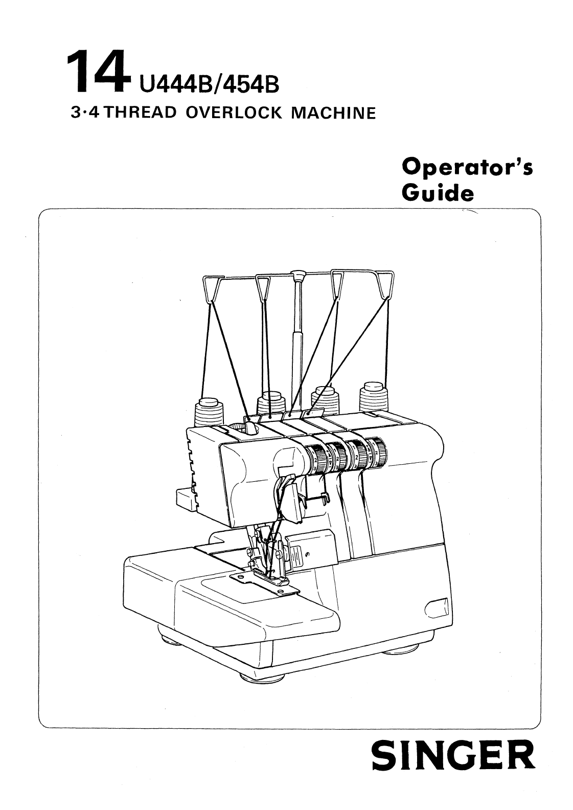 Singer Sewing Machine 14u444b User Guide