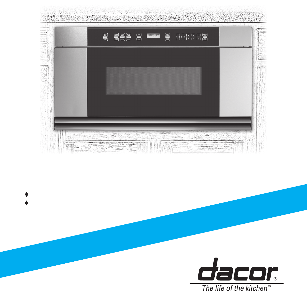 dacor microwave oven mmdv30s user guide manualsonline com