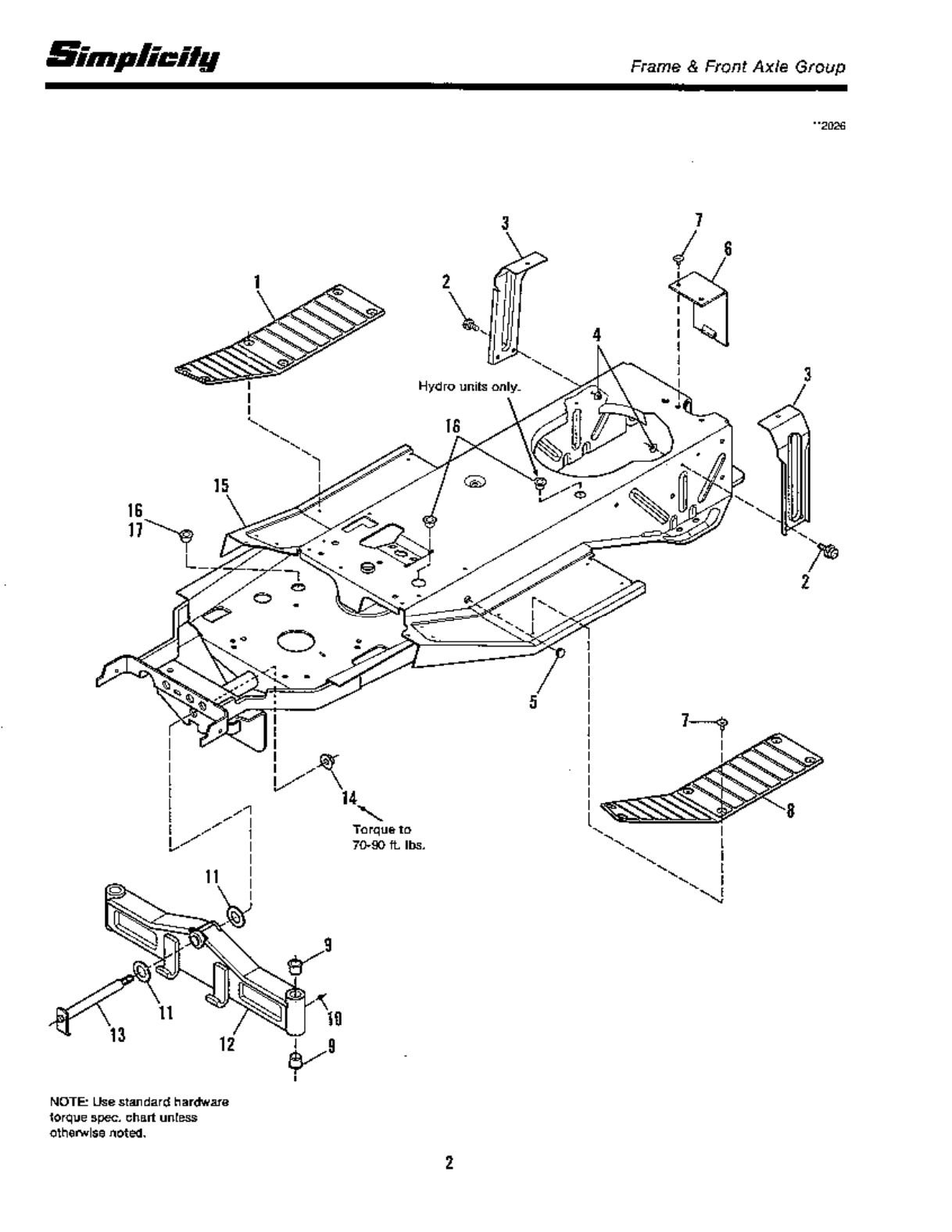 Page 4 Of Simplicity Lawn Mower 12 5 Lth User Guide