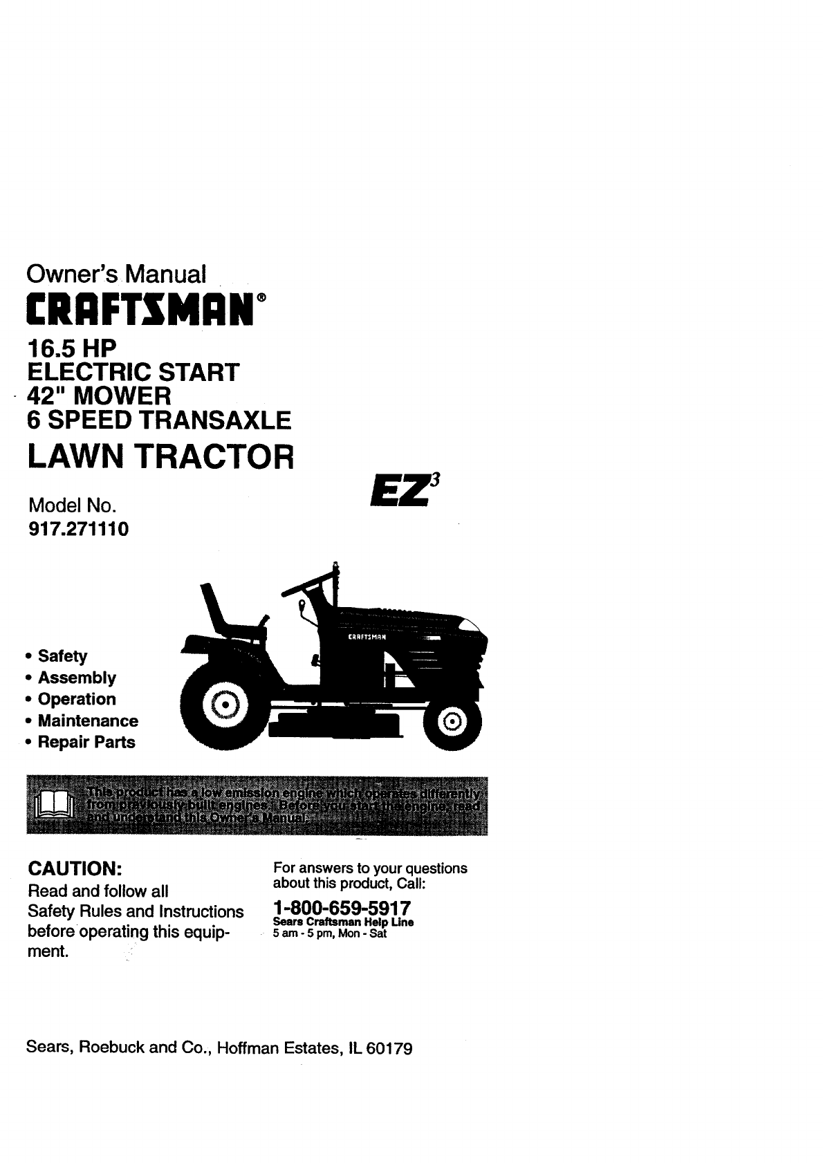 Sears Craftsman Manual Lawn Mower