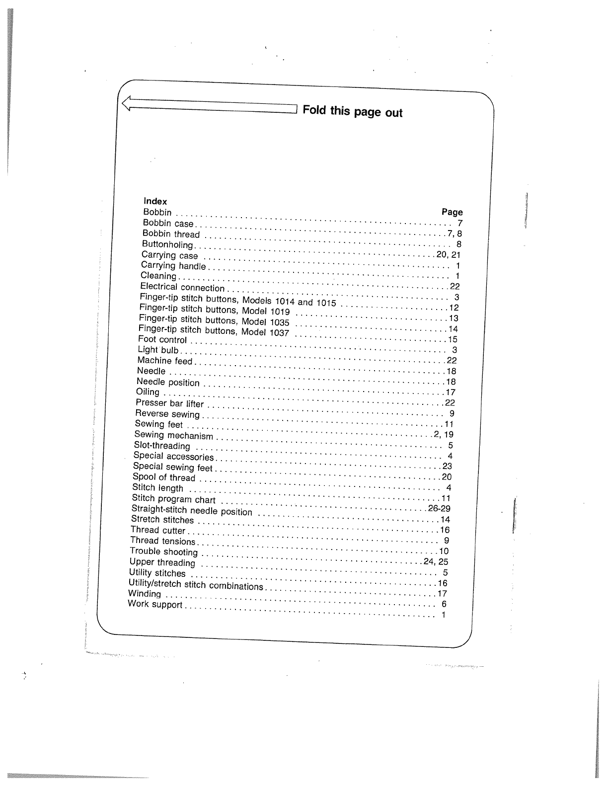 Page 2 Of Pfaff Sewing Machine User Guide