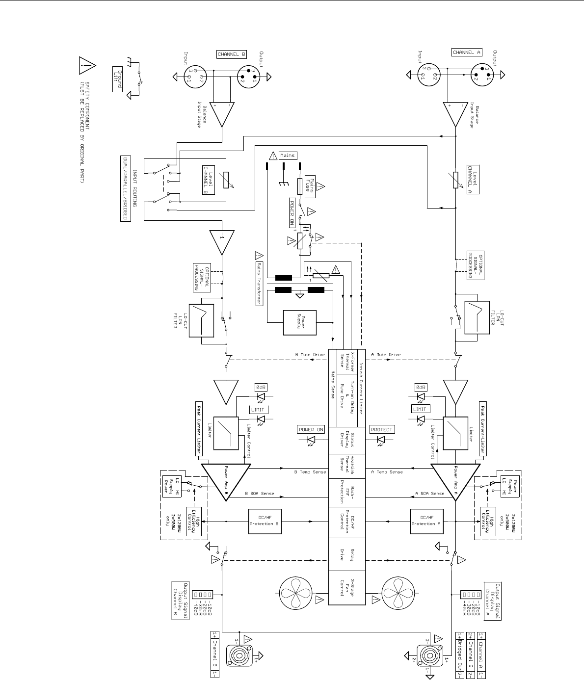 Contactor wiring schematic for reversing pm motors array page 24 of electro voice stereo lifier q99 user guide rh audio manualsonline