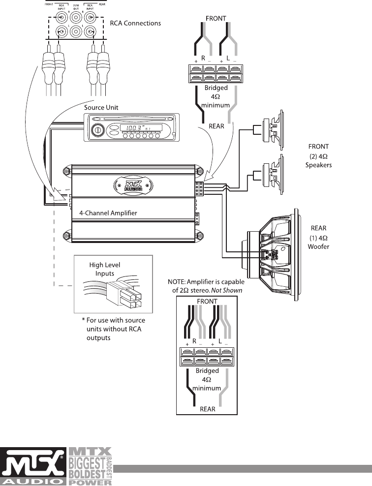 wiring diagram for a car subwoofer with How To Wire A 4 Channel   To 6 Speakers Wiring Diagrams on Three Circuits Of Pre  Tone Controls By Ne5532 together with Outdoor Speaker Diagram also Car Stereo Pioneer Deh 150mp Wiring Diagram also 427975 Bypassing Bose  lifier 03 04 G35 furthermore 1 Chip 40 Watt  lifier.