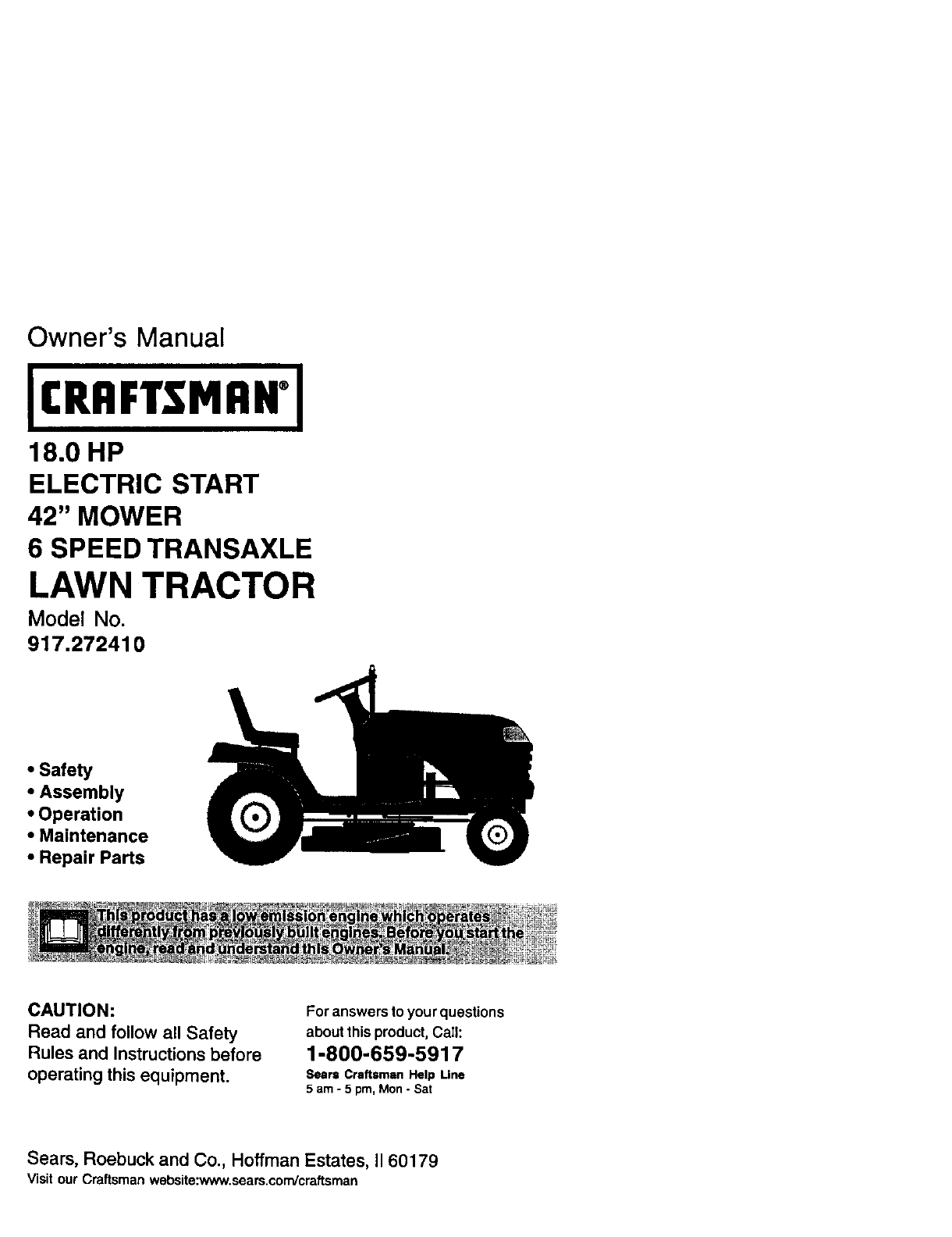 Craftsman Lawn Tractor Repair Manual Model 917 289223 Wiring Diagram